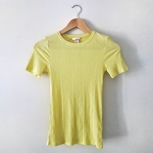 H&M Neon Yellow Ribbed Top